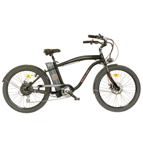 Stretched Electric Beach Cruiser Bicycle