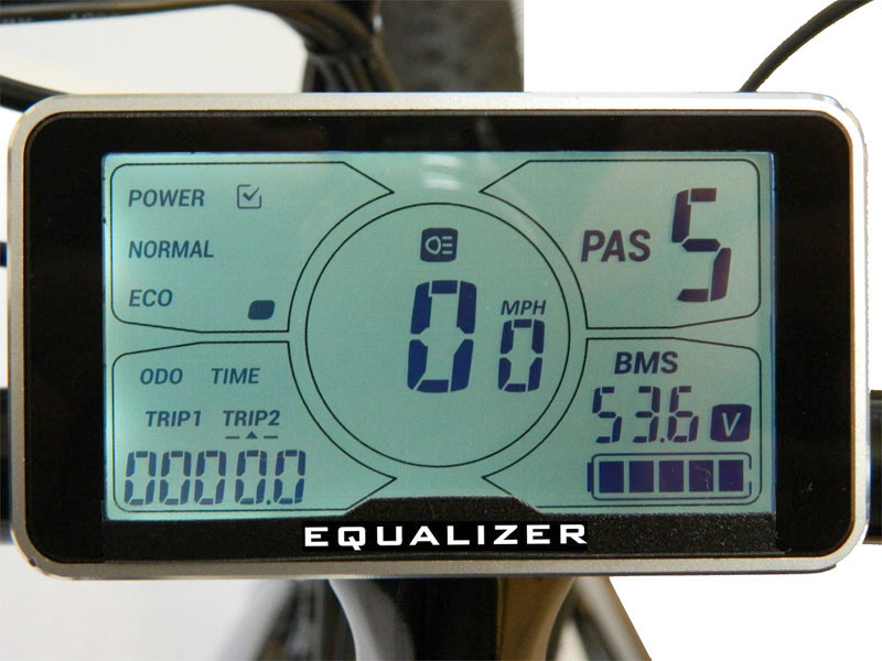 Liquid Crystal Display Electric Fat Tire Bike